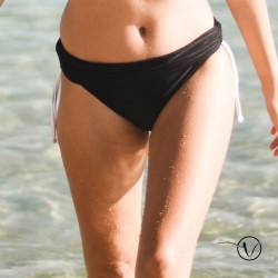 Mastectomy Bikini Bottom Nouette Garance Black and white