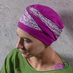 Turbante Doris in bambù - Eden viola