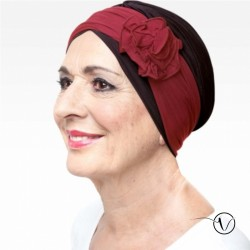 Chemo Headband Flore Bordeaux