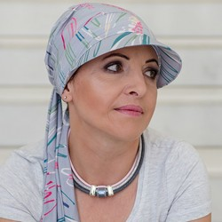 Chemo Hat with lashes - Kaja Tropical