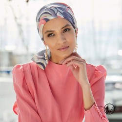 Chemo Head scarf Madrid Summer Short - Gisela Mayer - Rose purple