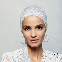 Chemo Head scarf Madrid Gisela Mayer - Grey