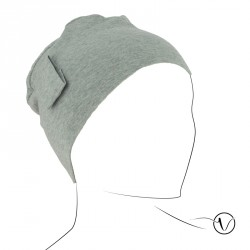 Chemo cap Lara - light grey - with loop