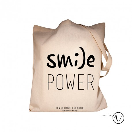 Tote Bag Smile Power Gift idea Cancer