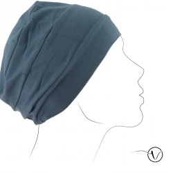 Chemo cap Pascale - Blue Grey