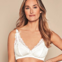 Amanda Non-Wired Bustier - White