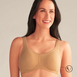 Mona Wireless Mastectomy Bra - Cognac - Amoena