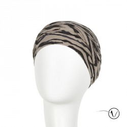 Viva Zebra Cotton Chemo Turban