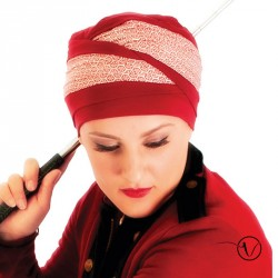 Doris Bamboo Turban - Red