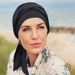 Chemo head scarf Naos - Black - Christine Headwear