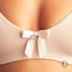 Johanna Cotton Pocketless Wire-Free Bra - White