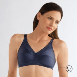 Nancy Wireless Mastectomy Bra - Dark Blue