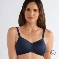 Mara Wireless Mastectomy Bra - Midnight Blue - Amoena
