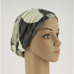 Chemo Cap - Stefania Winter Blue black beige