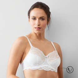Wired Mastectomy Bra Karolina - White/Nude - Amoena