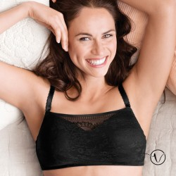 Dana Wireless Camisole Mastectomy Bra - Black - Amoena