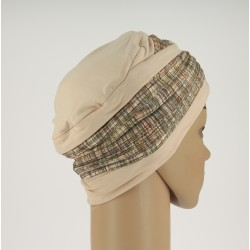 Bonnet chimio Laura - Motif Tweed