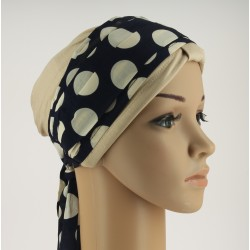 Chemo headband Nora blue white