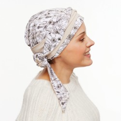 Chemo Turban with long ties - Carla beige