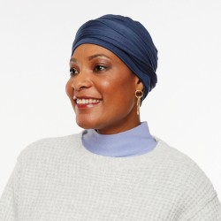 Bamboo Pre-Formed Head Scarf - Uni blue
