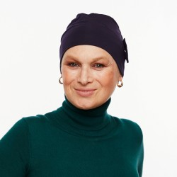 Chemo cap Pascale blue marine