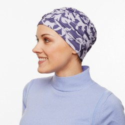 Martyna Bamboo Chemo Cap - blue grey