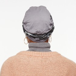 Bamboo Chemo cap Lou - grey - with loop and headband