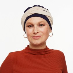 Pack Turban Noah with detachable Headband Blue beige