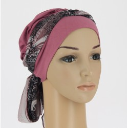 Chemo Head Scarf Christina with long ties - Cachemire