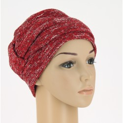 Edith Knitted Chemo Cap - Red