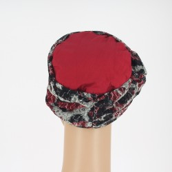 Bamboo Chemo Turban - Mathilde Red Lace