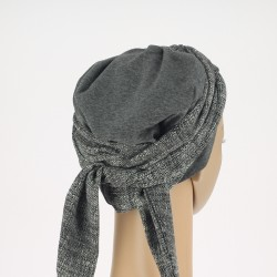 Grey Head Scarf - Amelia Chusto