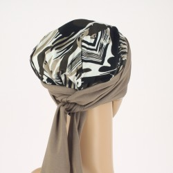 Foulard chimio en bambou Estelle Safari - Marron