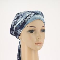 Simona Pre-Formed Head Scarf - Marine