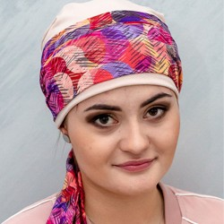 Simona bougainvillea Pre-Formed Head Scarf