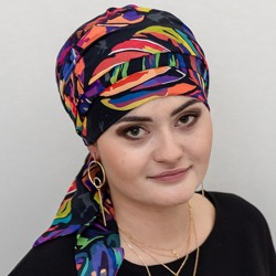 Estelle Chemo Head Scarf with Long Ties – Madras