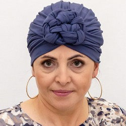 Bamboo pre-tied Turban Morgan - slate blue
