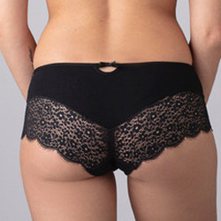 Shorty in cotone Bio Capucine - nero