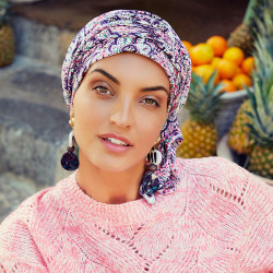 Turbante Chemio in bambù Stone Grey - Christine Headwear