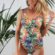 One-piece multicolored swimsuit Anaïs for prosthesis