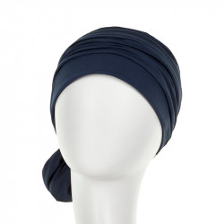 Mila Cotton Turban - Navy