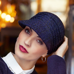 Cotton chemo cap Tweed nuit étoilée- Christine Headwear - Oncovia