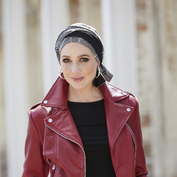 Chemo Head scarf Madrid long black - Gisela Mayer