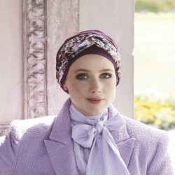 Pack Turban Ella with detachable headband -purple Gisela Mayer 600