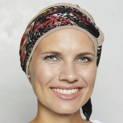 Turban New Lucia with detachable headband - beige - Gisela Mayer 606