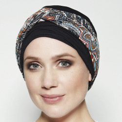 Pack Turban Ella with detachable headband - Black Gisela Mayer