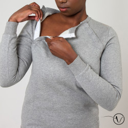 Sweat shirt pour Chimio Dahlia Gris