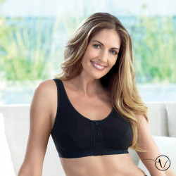 Isra Post-Surgery Bra for Breast form - Black - Anita