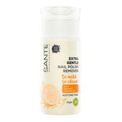 Acetone Free Nail Polish Remover with organic orange oil Santé - 100ml