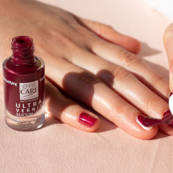 Vernis Silicium Urée Rouge sombre Eye Care